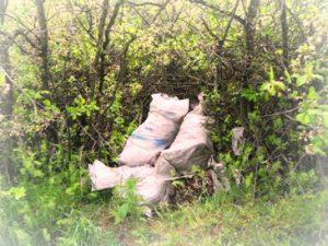 вывоз больших объемов мусора в мешках