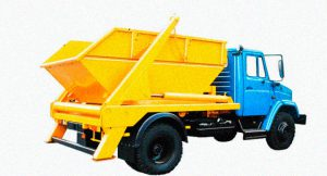 вывоз мусора в Дубне ЗИЛ 8 кубов
