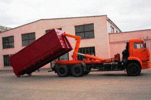 Вывоз мусора в Егорьевске контейнерами ЗИЛ и КАМАЗ